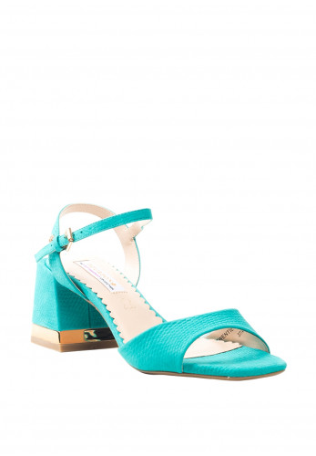 Amy Huberman Twentieth Century Chucky Heel Sandals, Teal