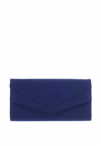 Ana Roman Envelope Clutch Bag, Dark Blue