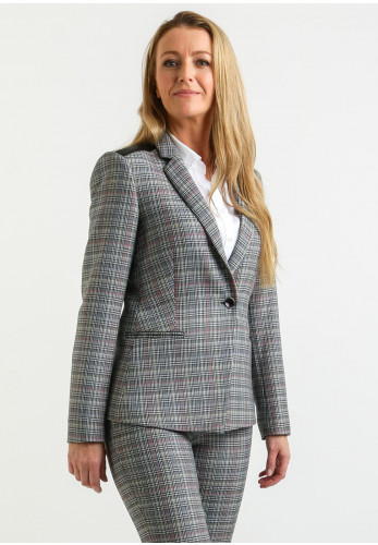 Ana Sousa Checked Blazer Jacket, Black & White