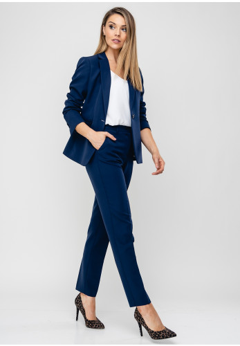 Ana Sousa Tailored Blazer Jacket, Navy