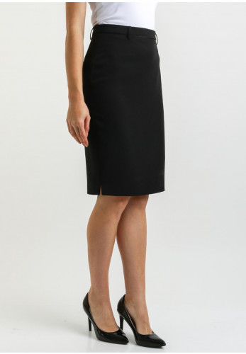 Ana Sousa Satin Trim Pencil Skirt, Black