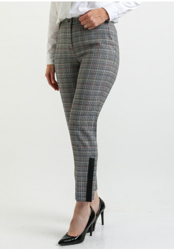 Ana Sousa Checked Trousers, Black & White