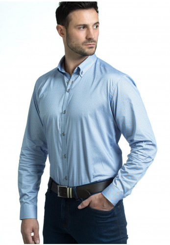 Andre Crosby Long Sleeve Shirt, Blue