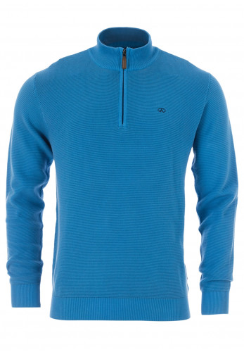 Andre Paris Cotton Half Zip Sweater, Blue