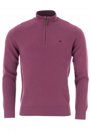 Andre Paris Cotton Half Zip Sweater, Grape