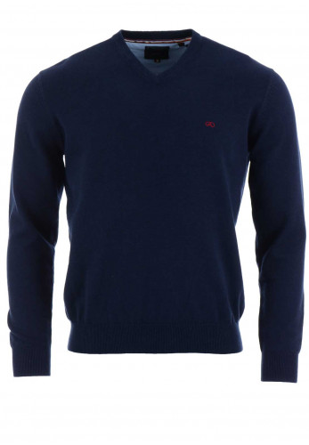 Andre Valencia V-Neck Sweater, Navy