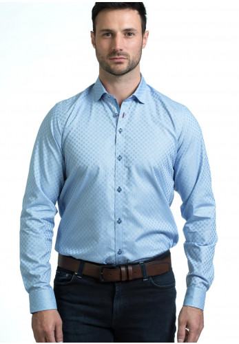Andre Perry Long Sleeve Shirt, Blue