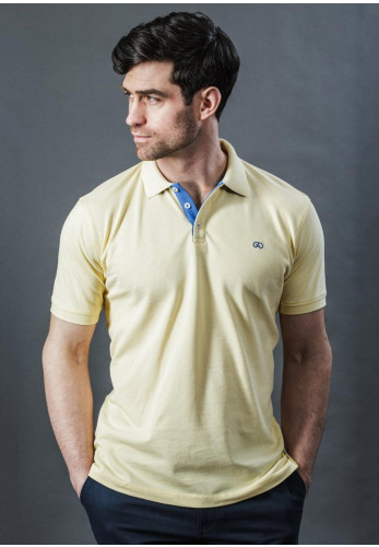 Andre Alex Short Sleeve Polo Shirt, Yellow
