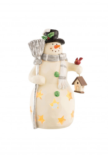 Aynsley Mr Snowman Led Christmas Ornament, White