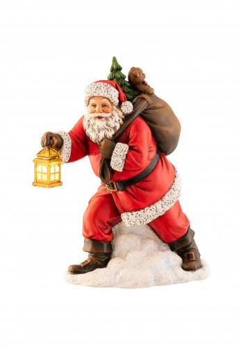 Aynsley Santa with Lantern Led Ornament