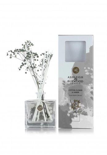 Ashleigh & Burwood Life In Bloom Floral Reed Diffuser, Cotton Flower & Amber