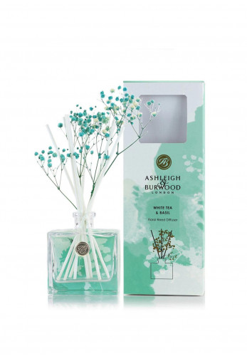Ashleigh & Burwood Life In Bloom Floral Reed Diffuser, White Tea & Basil