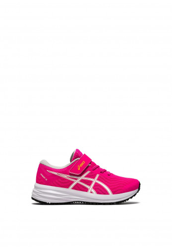 Asics Girls Patriot 12 Velcro Strap Trainers, Pink