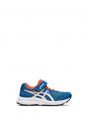 Asics Kids Contend 7 Trainers, Blue and Orange