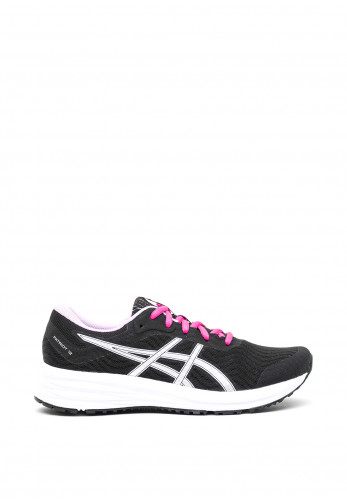 Asics Womens Patriot 12 Trainers, Black and Purple