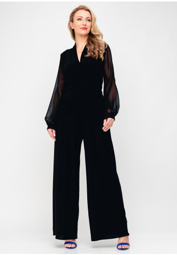 Atom Label Uranium Wide Leg Jumpsuit, Black