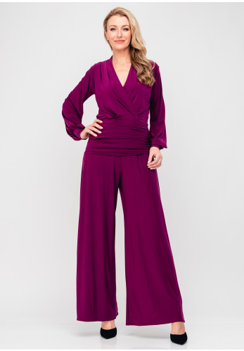 Atom Label Uranium Wide Leg Jumpsuit, Violet