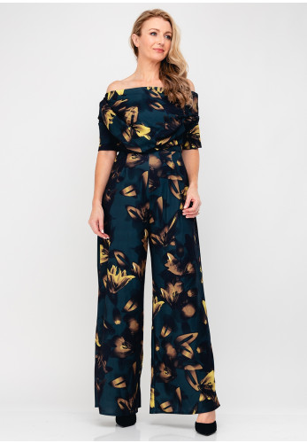 Atom Label Lima Floral Wide Leg Jumpsuit, Multi