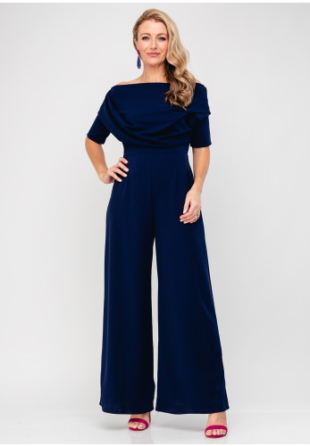 Atom Label Lima Wide Leg Jumpsuit, Navy