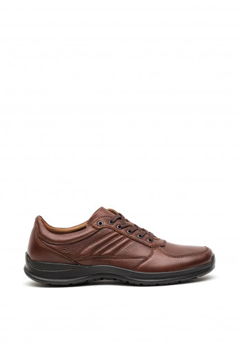 Atrai Mens Stitched Comfort Shoe, Brown