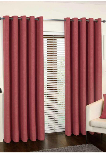 Aura Canberra Eyelet Curtains, Pink