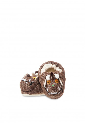 Aurora The Gruffalo Baby Booties, Brown