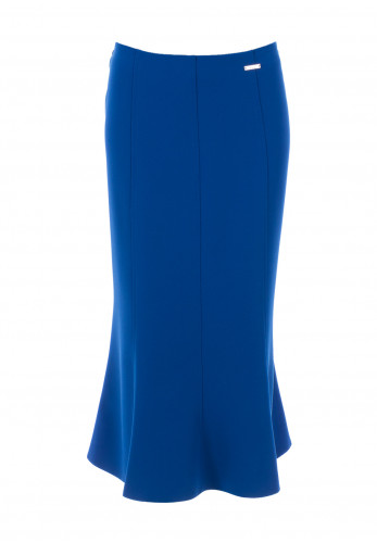 Avalon Aline Flare Midi Skirt, Royal Blue