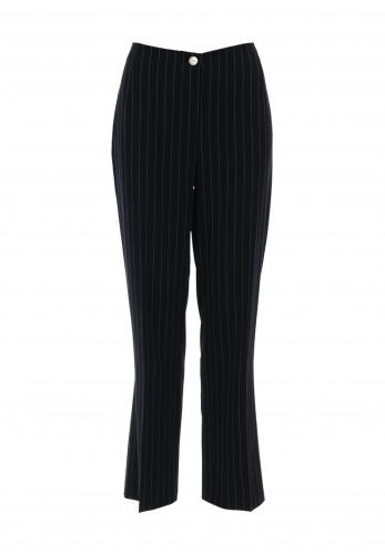 Avalon Pinstripe Tapered Trousers, Navy