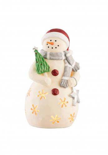 Aynsley Mrs Snow Woman Led Christmas Ornament