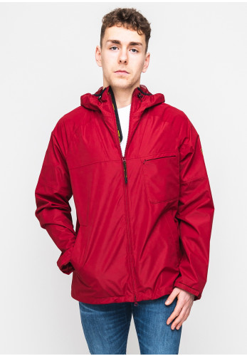 Barbour International Grange Parka Waterproof Hooded Jacket, Red