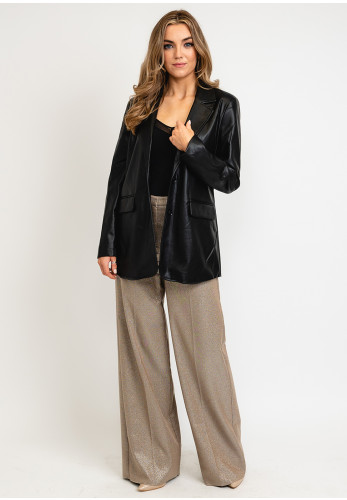 B Young Faux Leather Blazer Style Jacket, Black