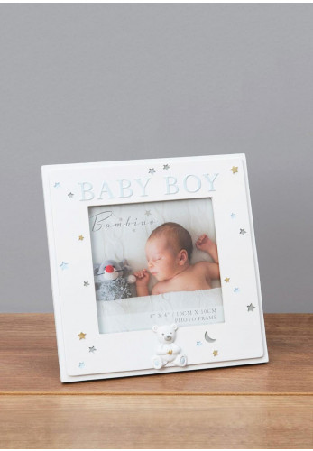 Bambino Baby Boy Photo Frame, 4 x 4