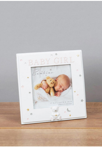 Bambino Baby Girl Photo Frame, 4 x 4