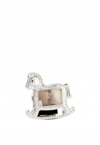 Bambino Rocking Horse Photo Frame, Silver