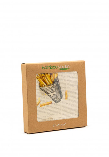 Chic Mic French Fries Bamboo Napkins