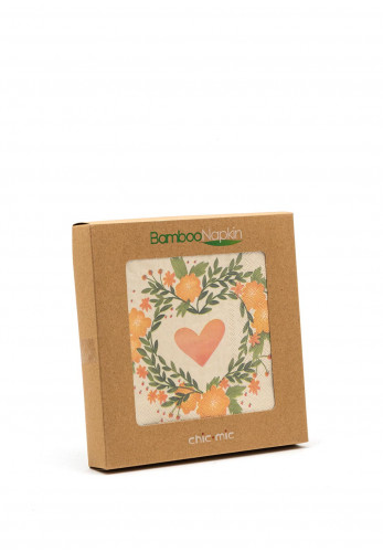 Chic Mic Floral Heart Bamboo Napkins