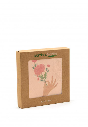 Chic Mic Flowers For You Bamboo Napkins