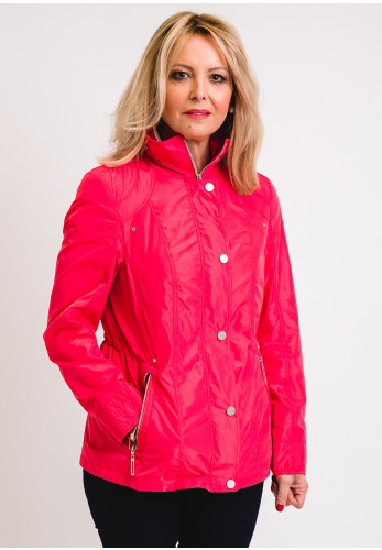 Barbara Lebek Waterproof Panel Rain Jacket, Pink