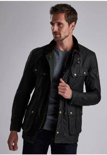 Barbour International Duke Wax Jacket, Green