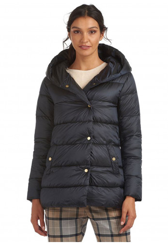 Barbour Womens Lossie Hooded Quilted Coat, Navy