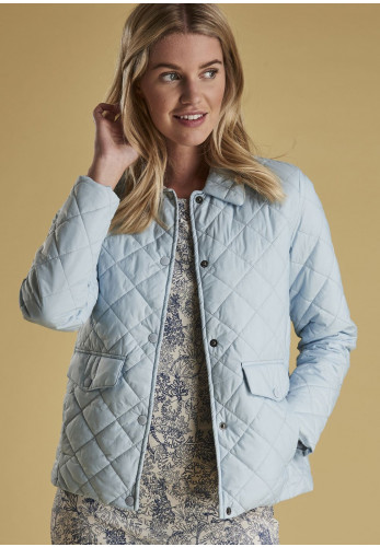 Barbour Womens Overwash Quilted Jacket, Powder Blue