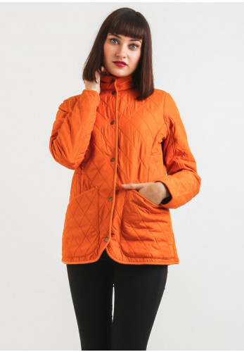 Barbour Womens Combe Polar Quilt Jacket, Orange