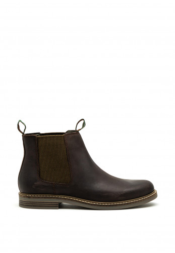 Barbour Farsley Leather Slip on Boot, Chocolate