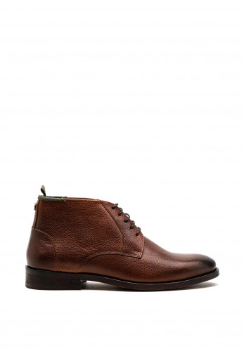 Barbour Mens Benwell Leather Chukka Boot, Chestnut