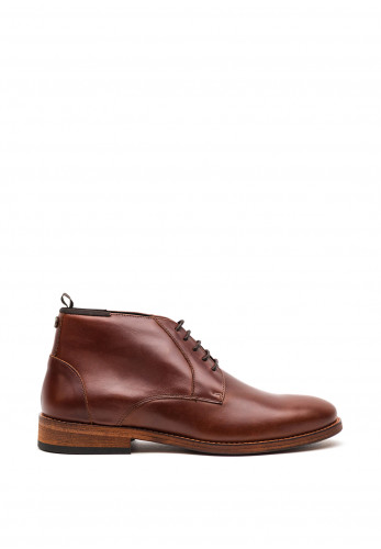 Barbour Mens Benwell Leather Chukka Boot, Mahogany