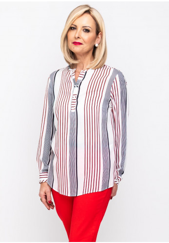 Bariloche Egeo Striped Shirt, White Multi