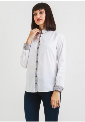Bariloche Fuentes Check Trim Shirt, White