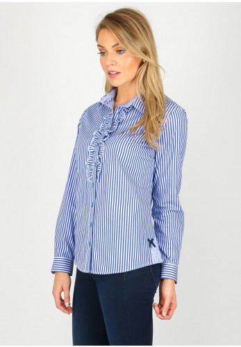 Bariloche Yuncos Striped Cotton Shirt, Blue