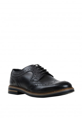 Base London Kent Burnished Brogue Shoe, Grey