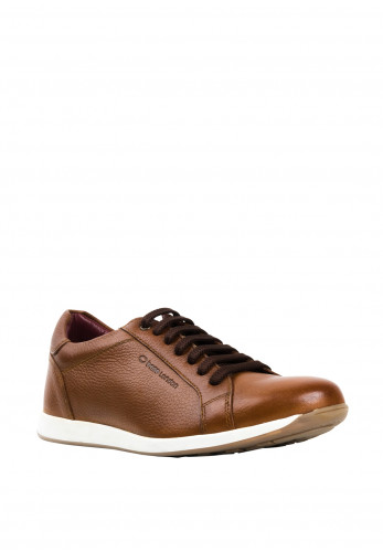 Base London Flare Grain Casual Shoe, Tan